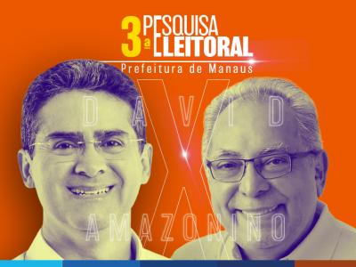 Segundo Turno 2020: David Almeida 55% e Amazonino Mendes 45%